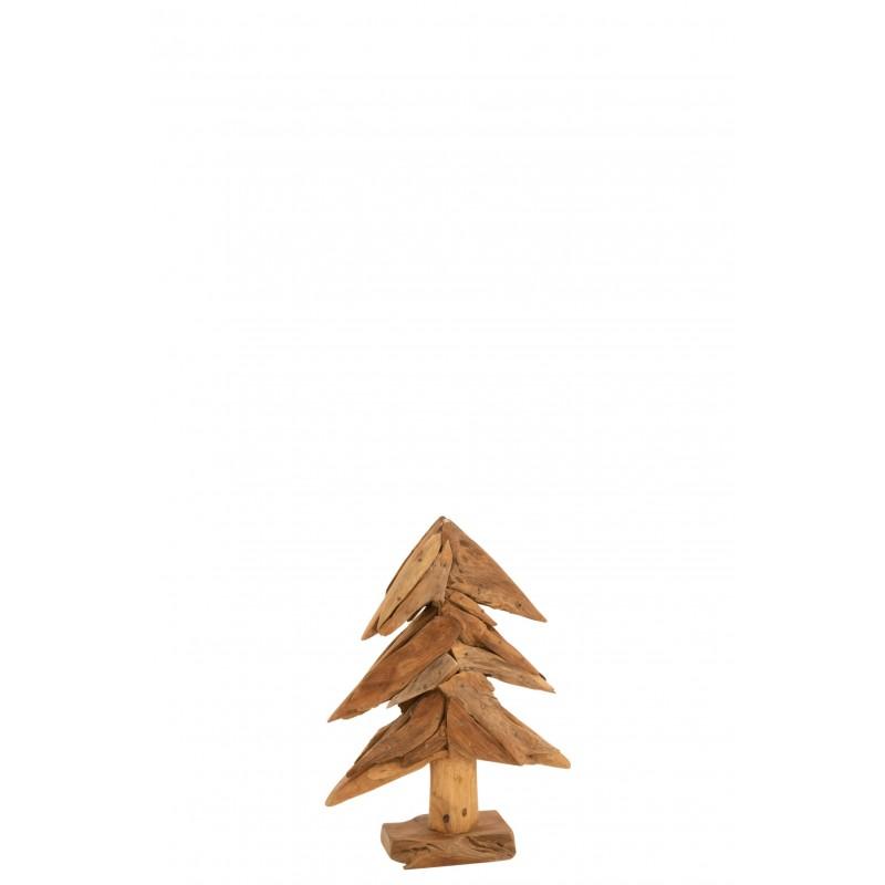 Arbre morceaux de bois teck naturel H50cm