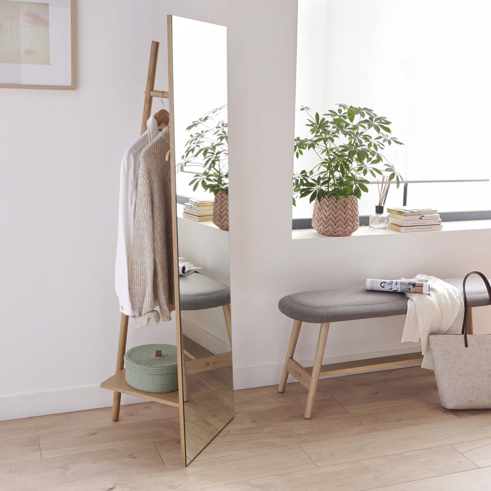 Miroir portant en bois
