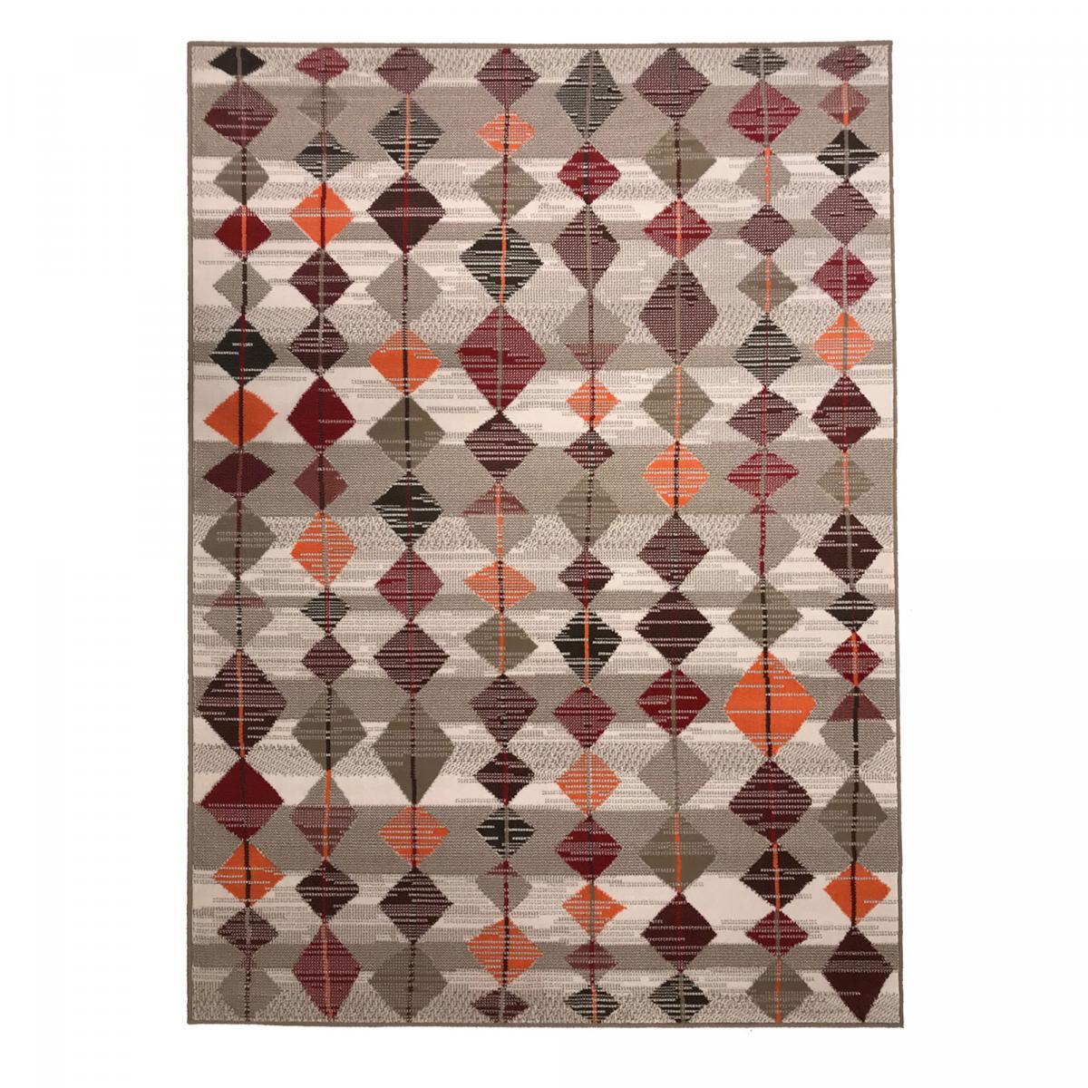 Tapis berbère style en polypropylène multicolore 60x110