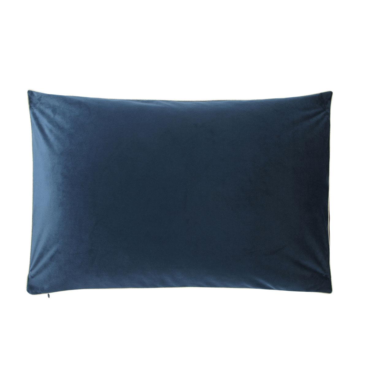 Housse de coussin uni en velour bleu russe 40x60