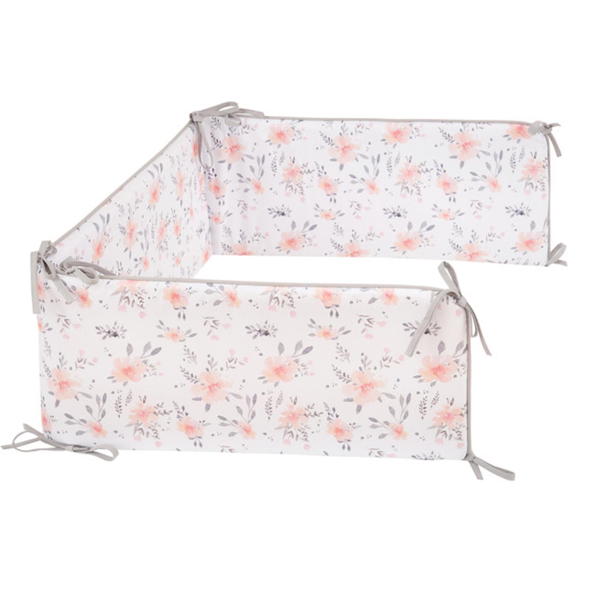 Tour de lit universel blanc à motifs bébé
