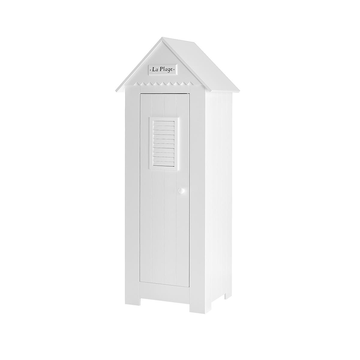 Armoire 1 porte blanc