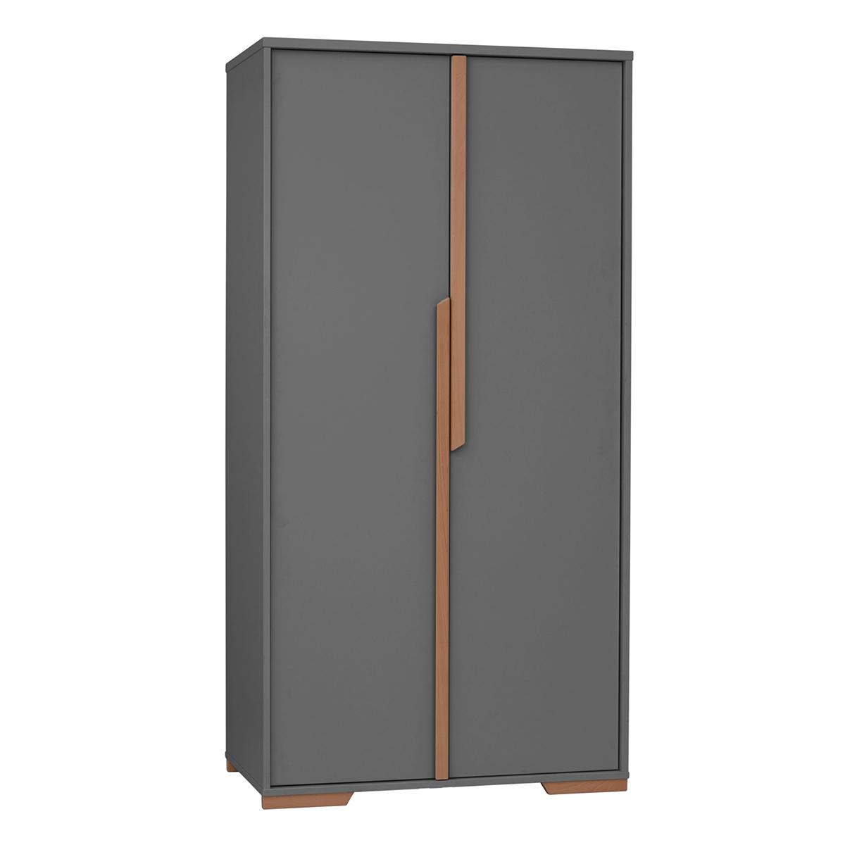 Armoire 2 portes gris bois