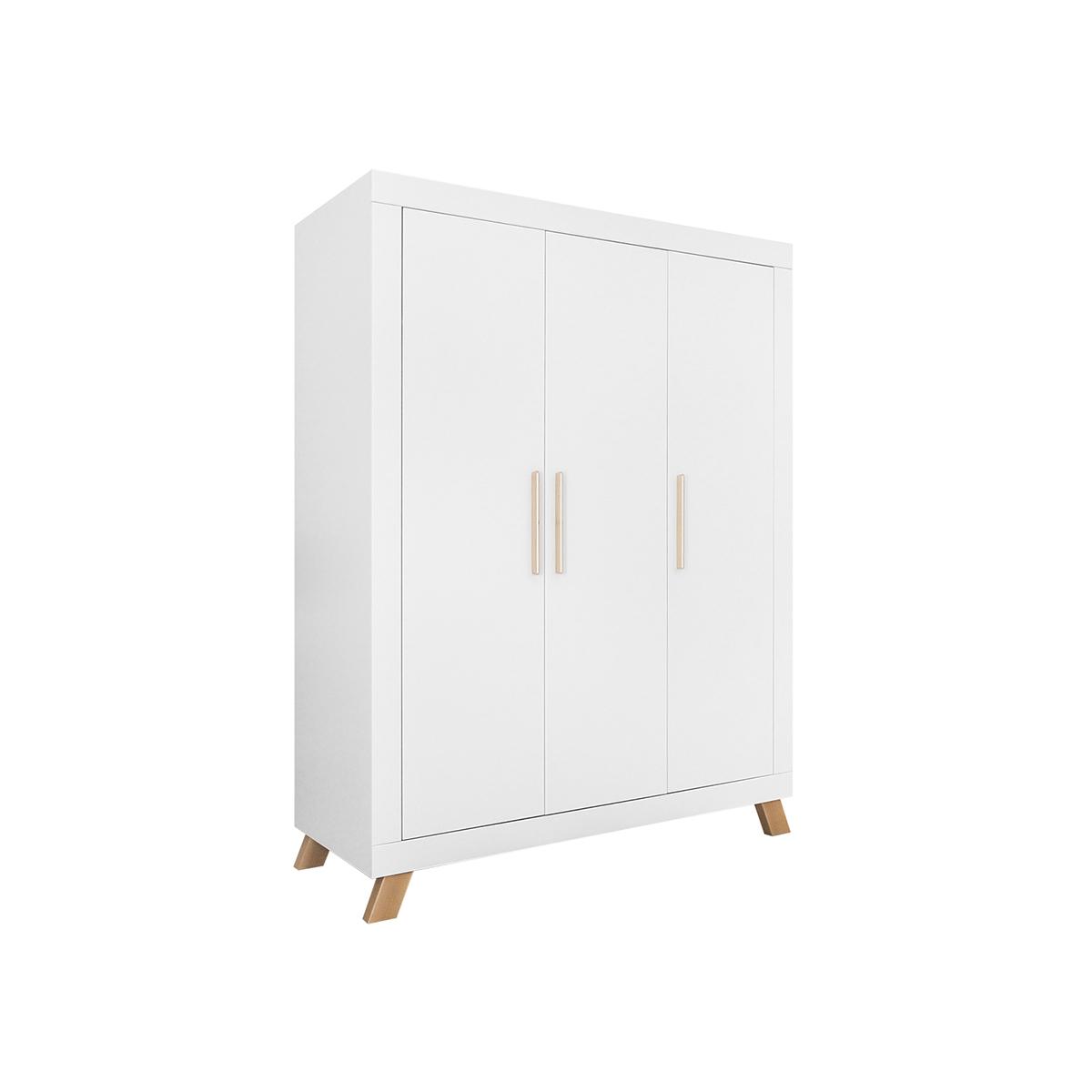 Armoire 3 portes blanc naturel