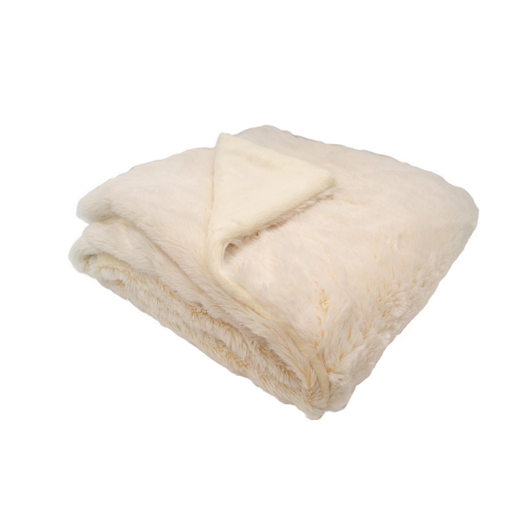 Couverture bébé snow doublée en coton Crème 75x100