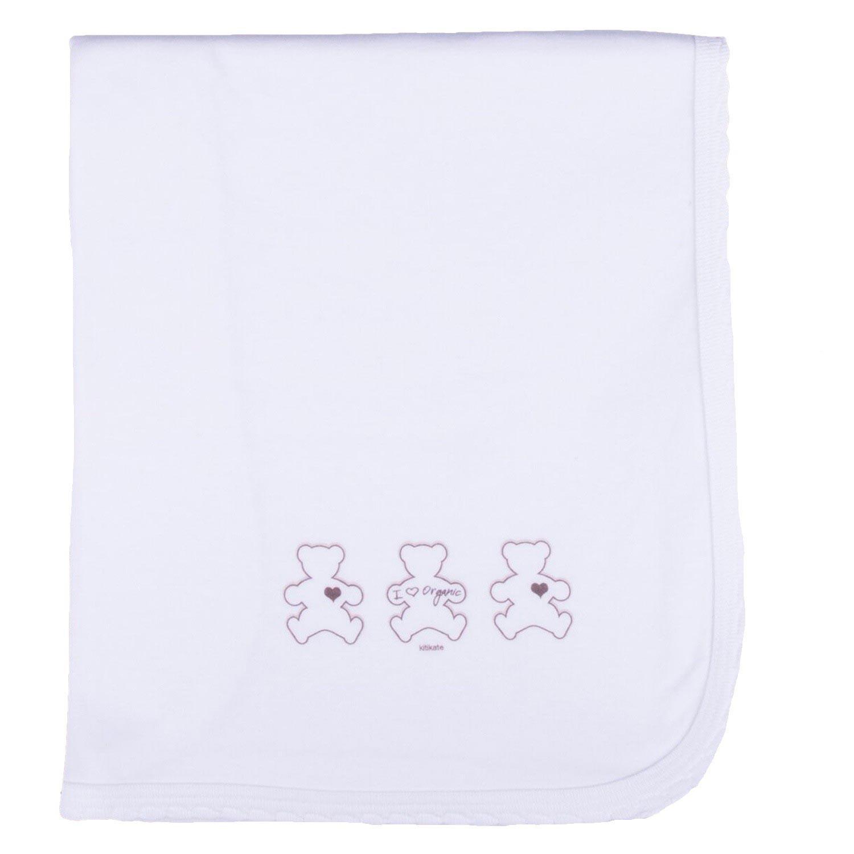 Couverture bébé légère en jersey de coton bio blanc