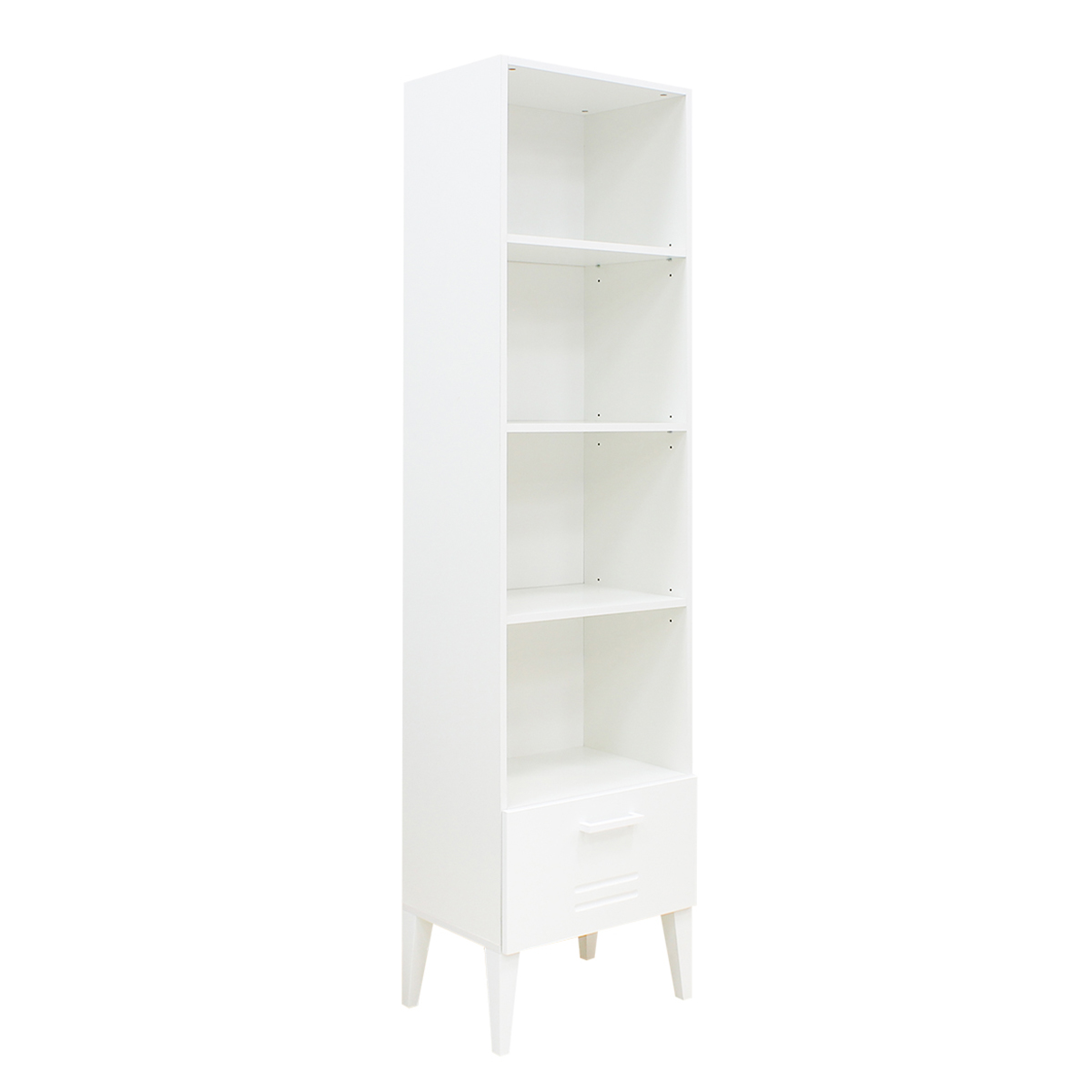 Bibliothèque 1 tiroir blanc