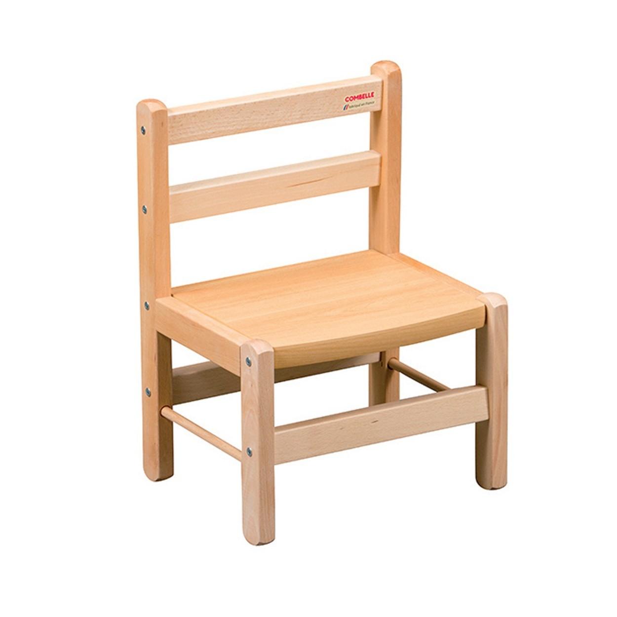 Chaise enfant vernis naturel - 33x46x27 cm