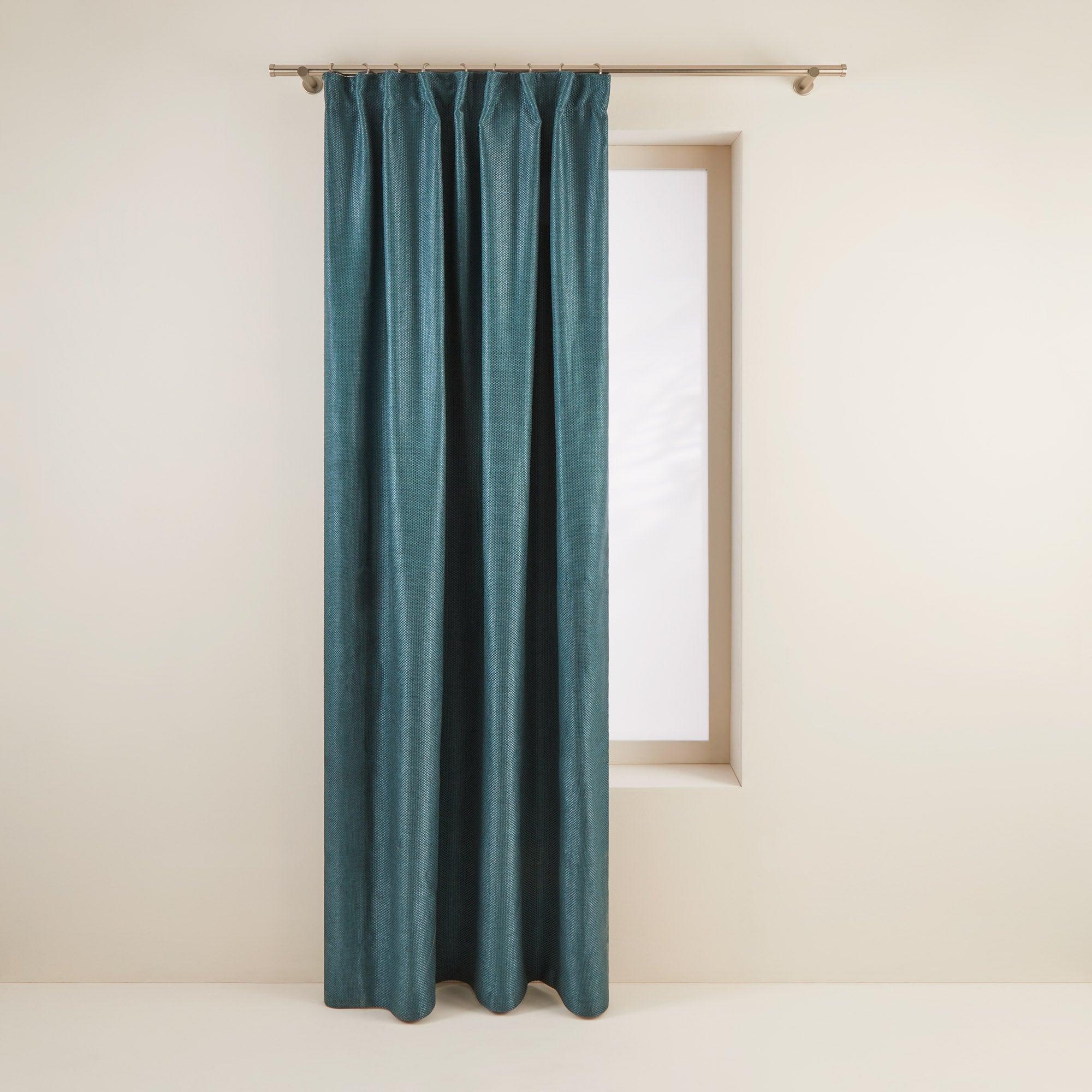 Rideau à ruban fronceur 145x220 cm Vert