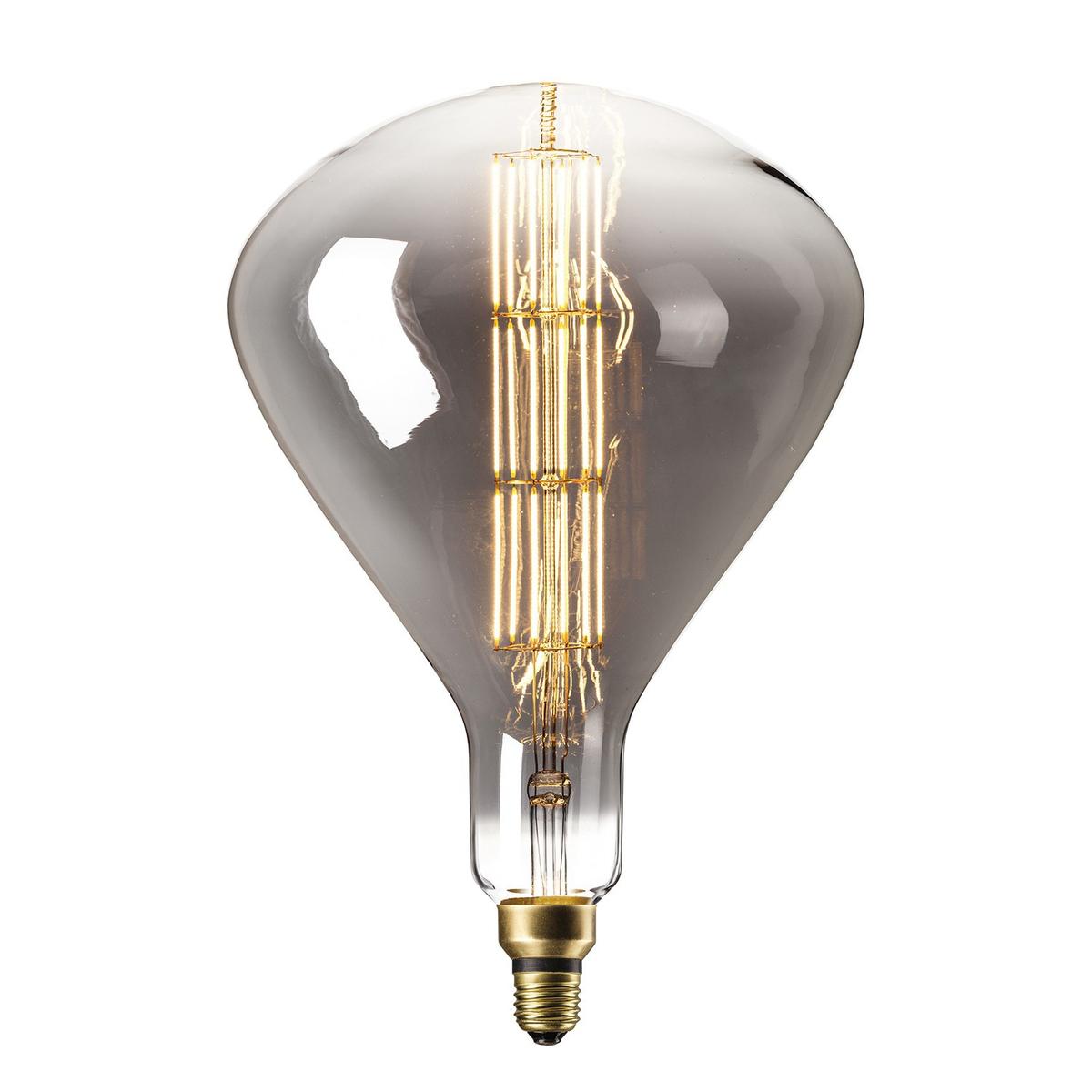 Ampoule filament décorative en verre gris