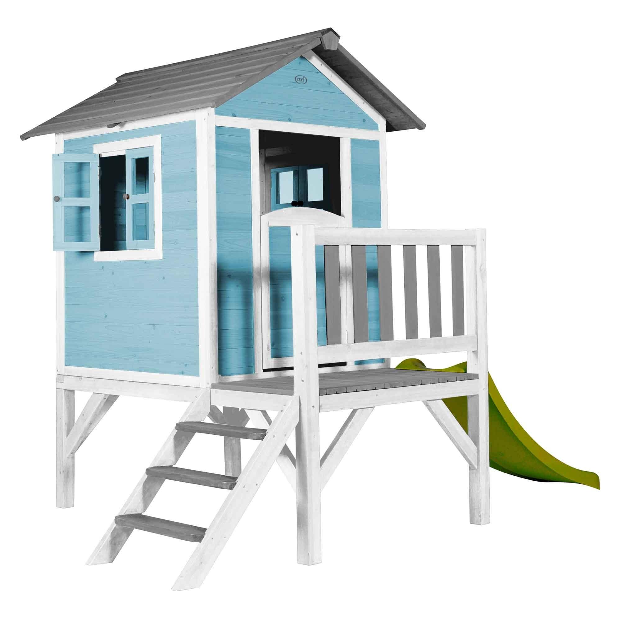 Cabane enfant sur pilotis bleue