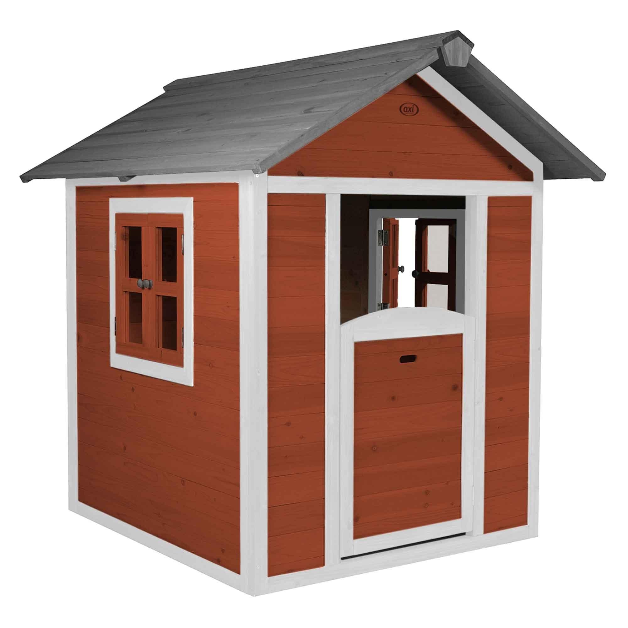 Maisonnette en bois rouge
