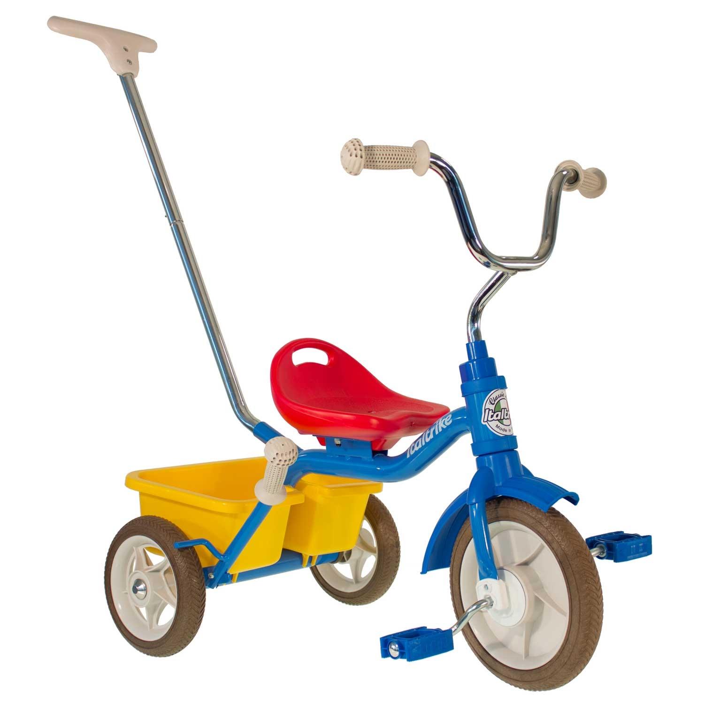 Tricycle en métal multicolore canne et benne