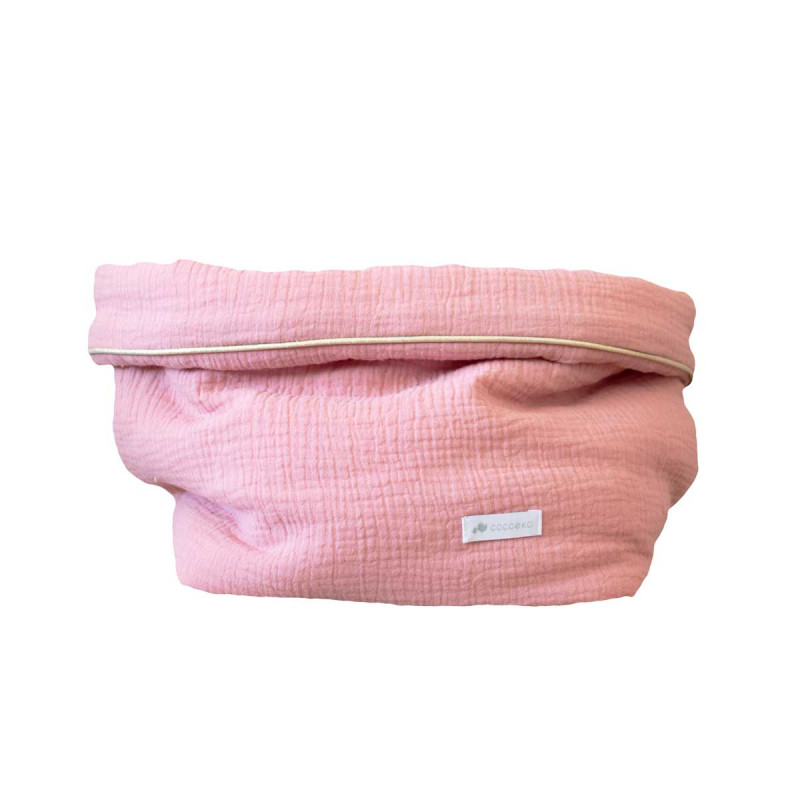 Panier de rangement gaze de coton rose