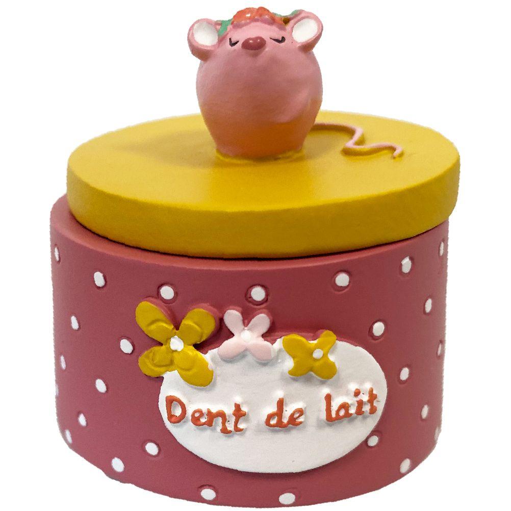 Petite boite à dents de lait rose