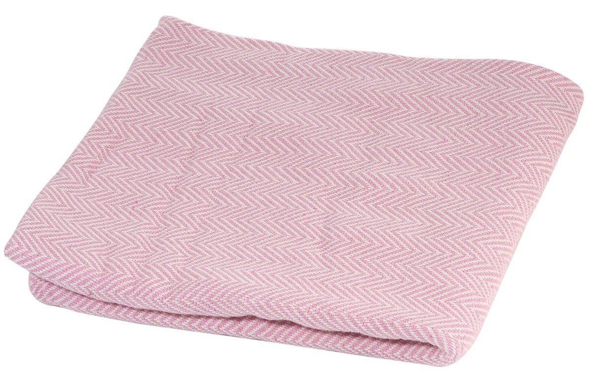 Couverture bébé en coton rose