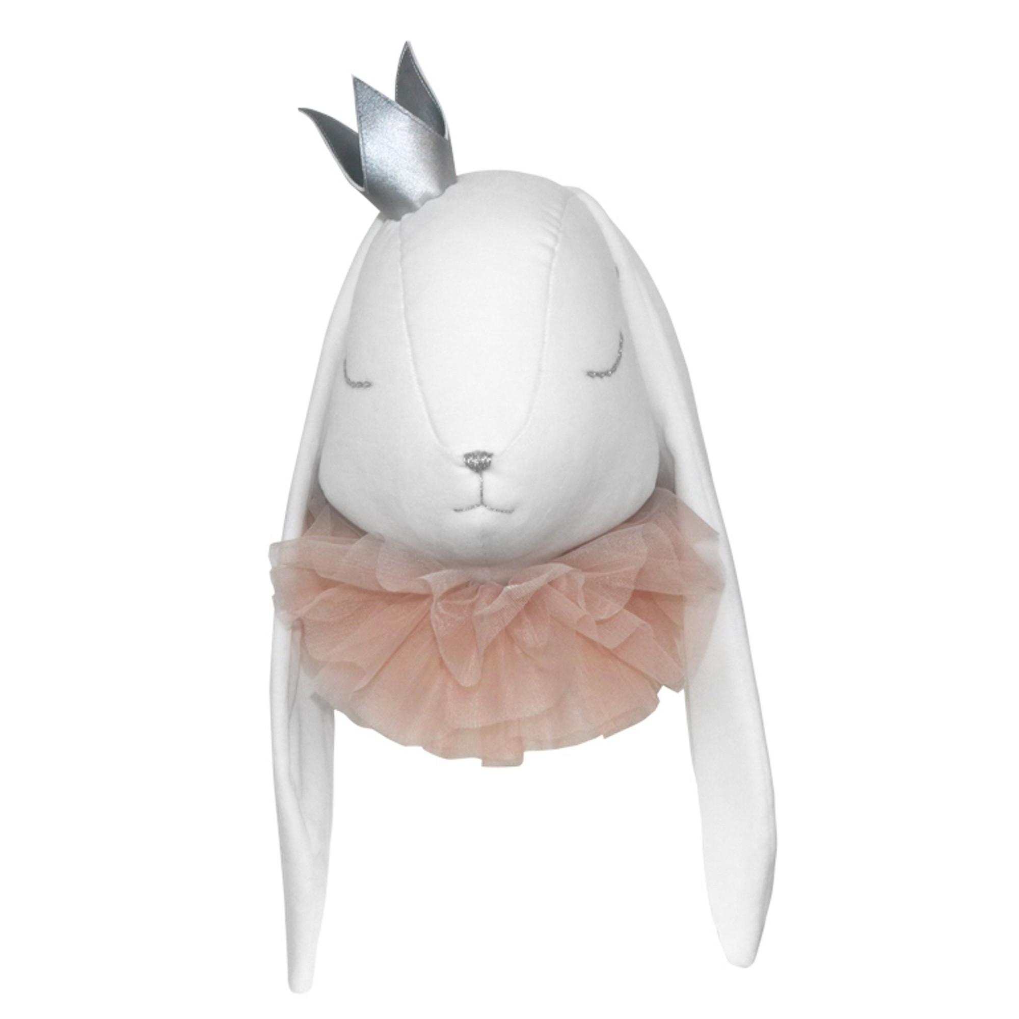 Trophée peluche princesse lapin blanc bébé