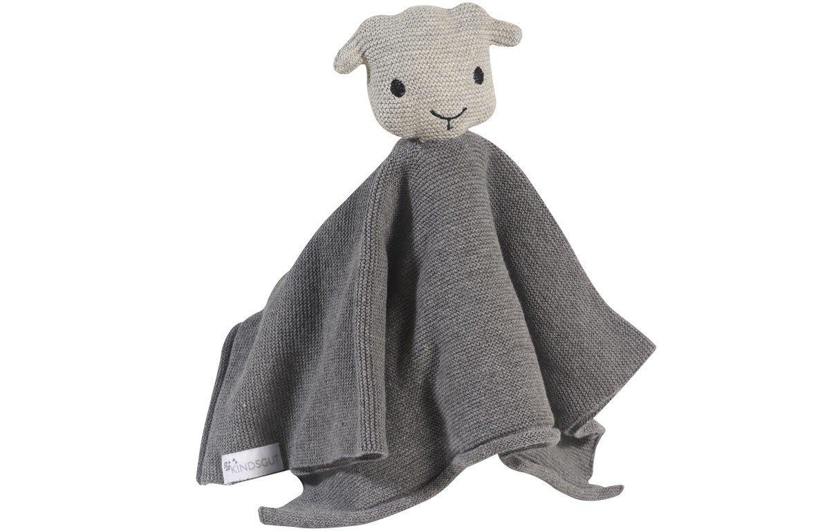 Tissu câlin hochet en coton gris