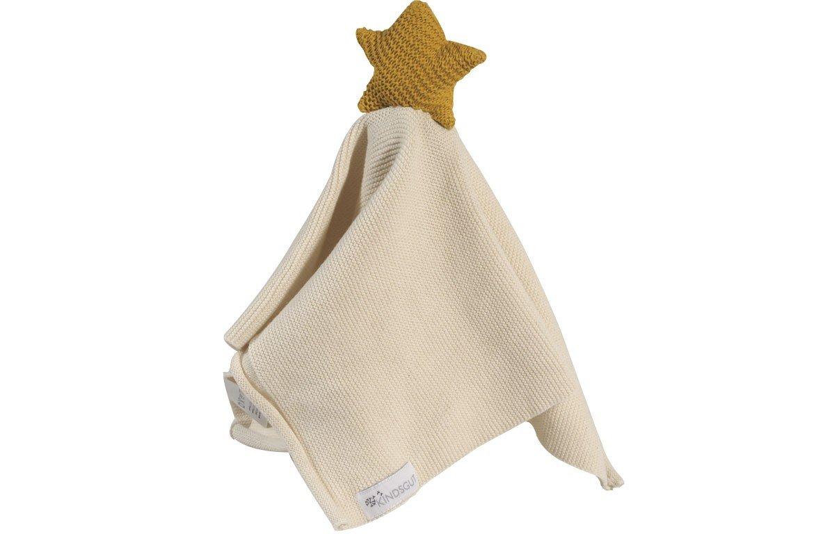 Tissu câlin hochet en coton jaune