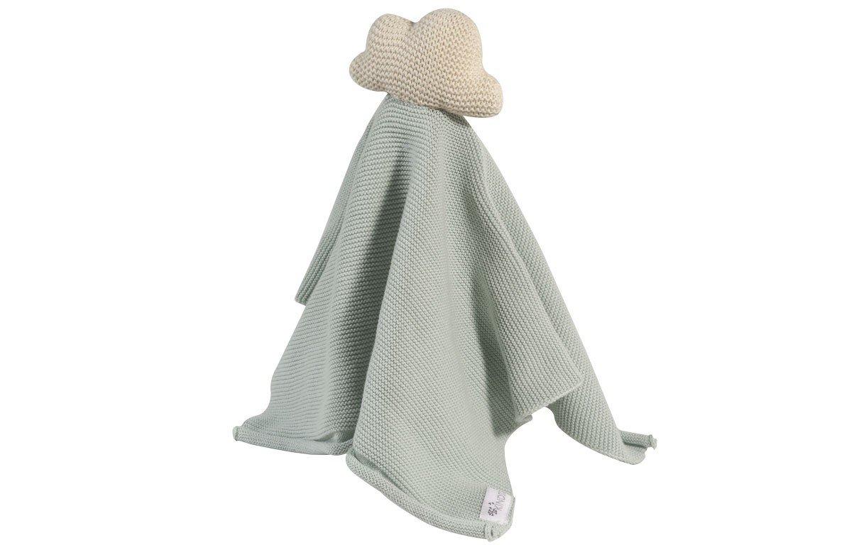 Tissu câlin hochet en coton blanc