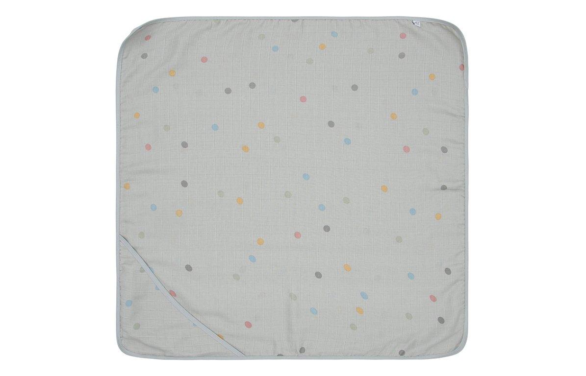 Serviette de bain à capuche en mousseline coton multicolore