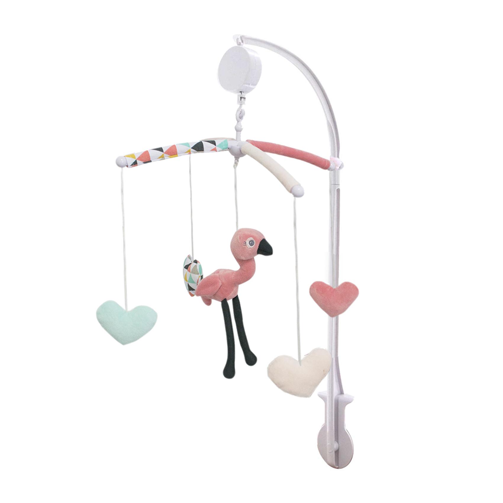 Mobile musical bébé Flamingo Rose 60x40