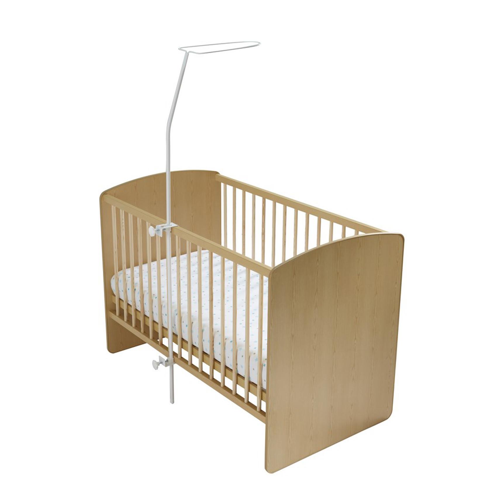 Flèche de lit enfant Fer Forgé Blanc 152 cm