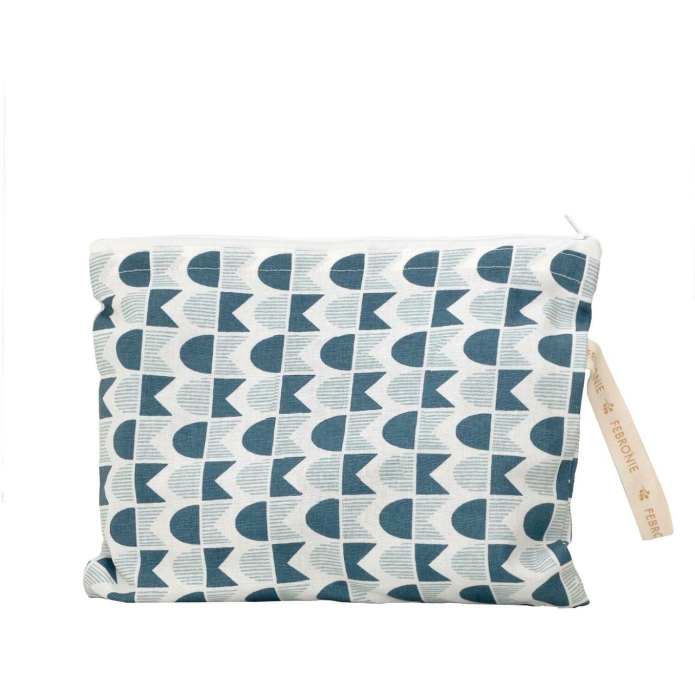 Pochette de plage en coton 28 x 21 Bleu paon