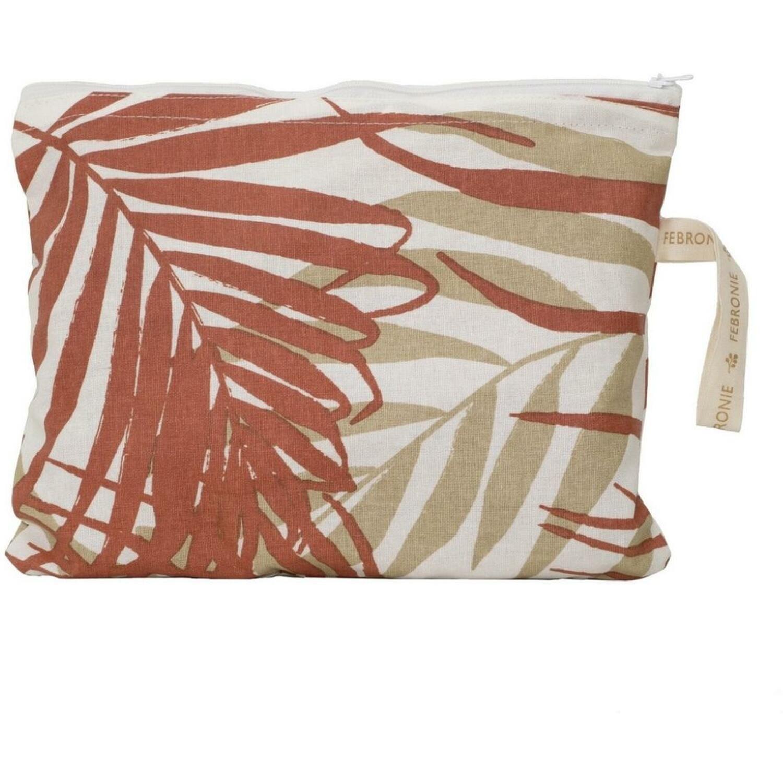 Pochette de plage en coton 28 x 21 Terracotta