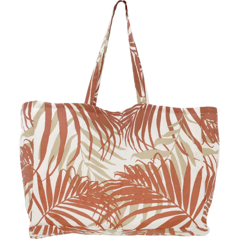 Sac de plage en coton 44x54x22 cm Terracotta