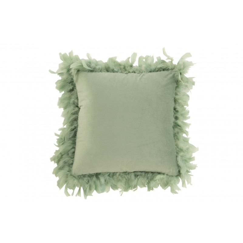 Coussin plumes polyester menthe 45x45cm