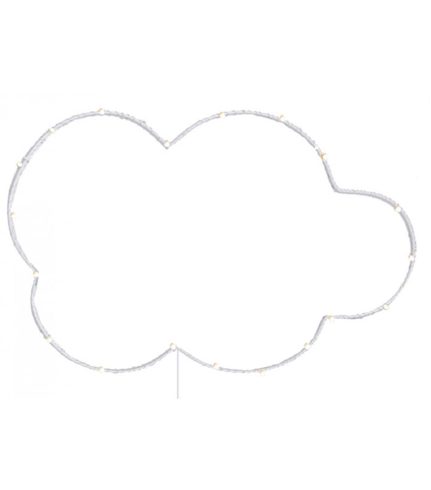 Décoration murale lumineuse led chambre enfant nuage