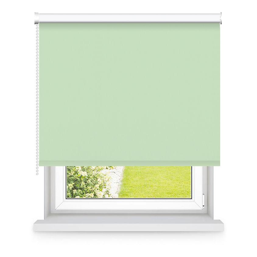 Store enrouleur occultant vert pistache L90x H250cm
