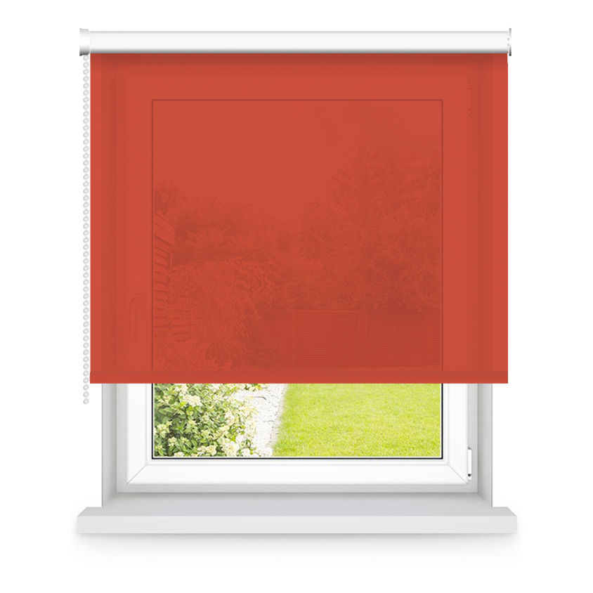 Store enrouleur tamisant rouge orangé L55x H160cm