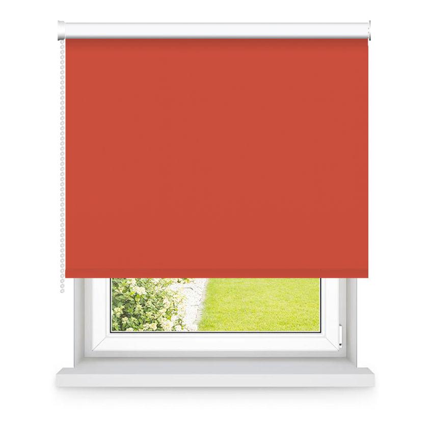 Store enrouleur occultant rouge Orangé L90x H250cm