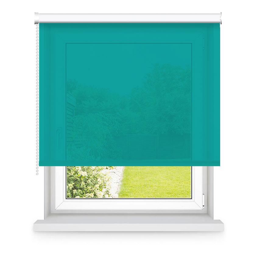 Store enrouleur tamisant turquoise L105x H250cm