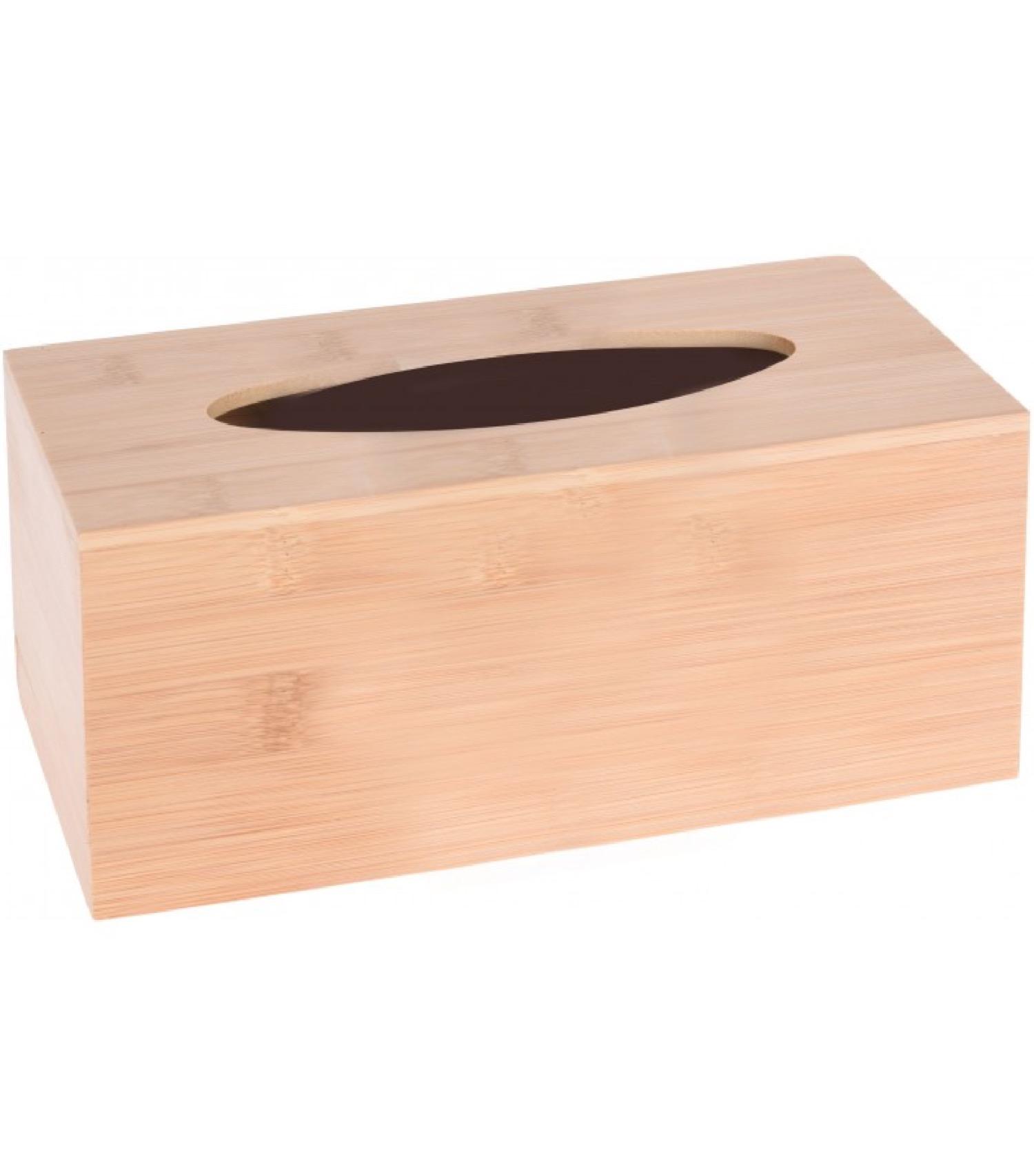 Boîte à mouchoirs rectangulaire bambou