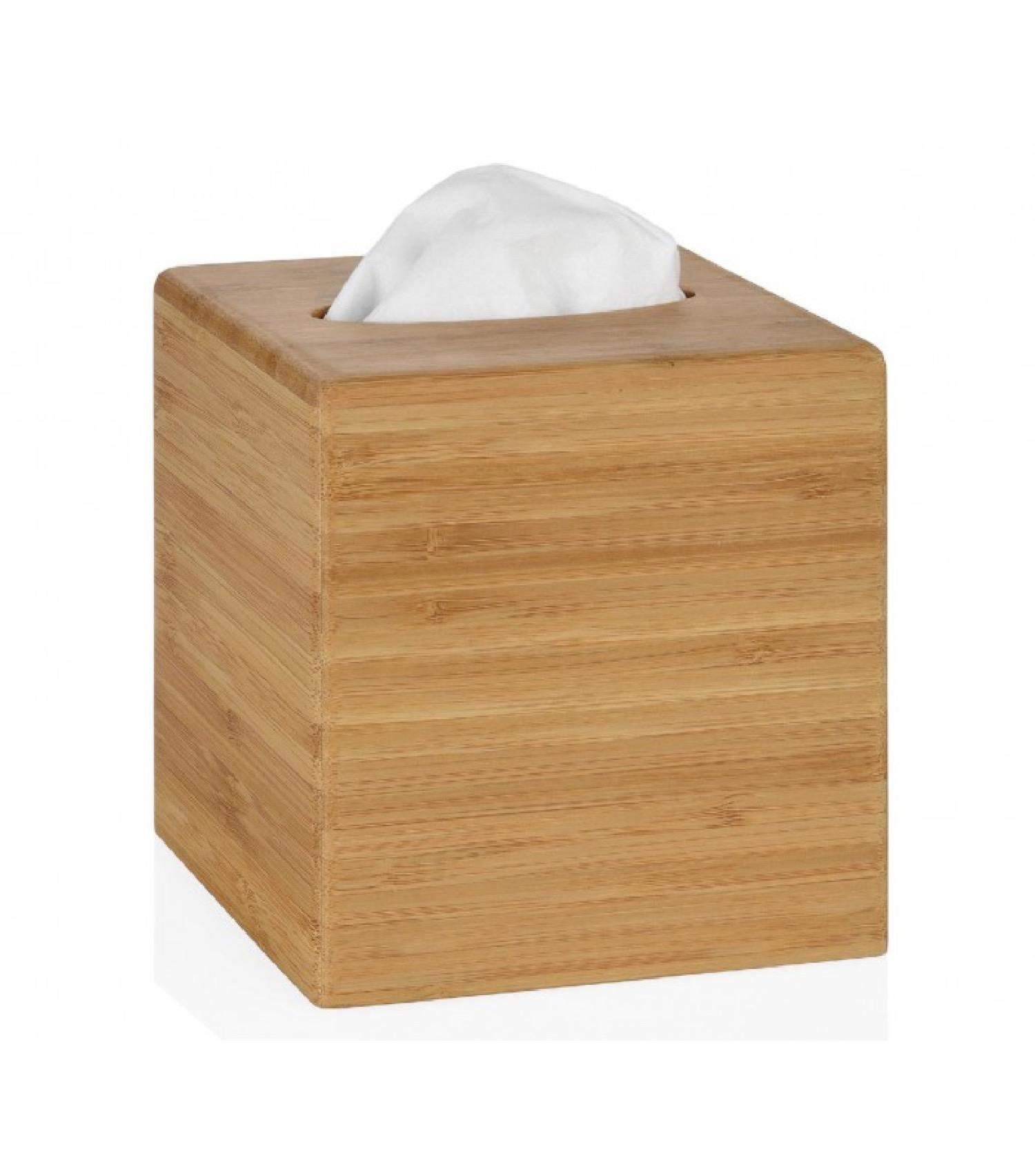 Boîte à mouchoirs carrée bambou