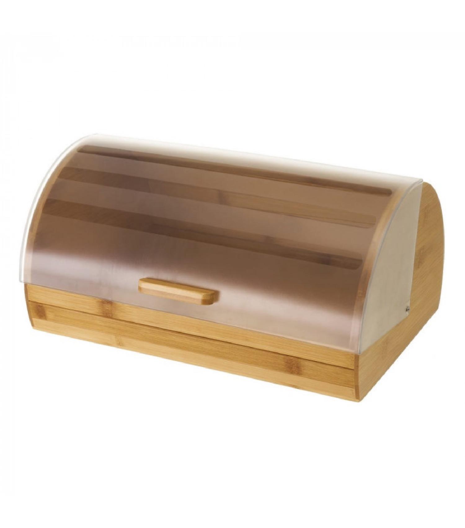 Boîte à pain en bambou et plastique