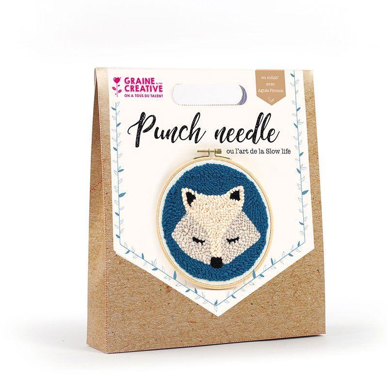 Coffret punch needle renard D20cm