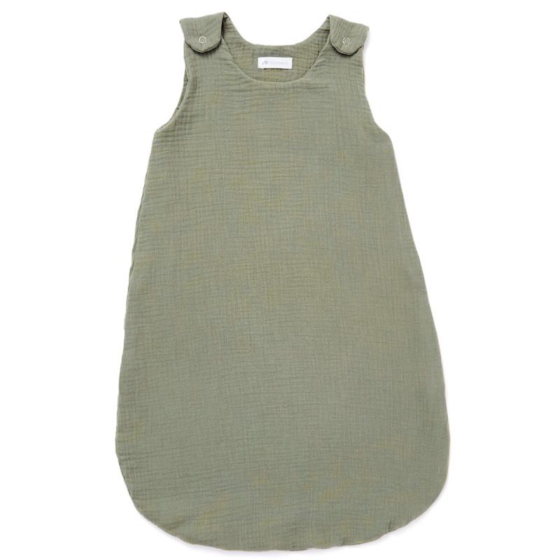 Gigoteuse été en gaze de coton vert sauge (6-24 mois)