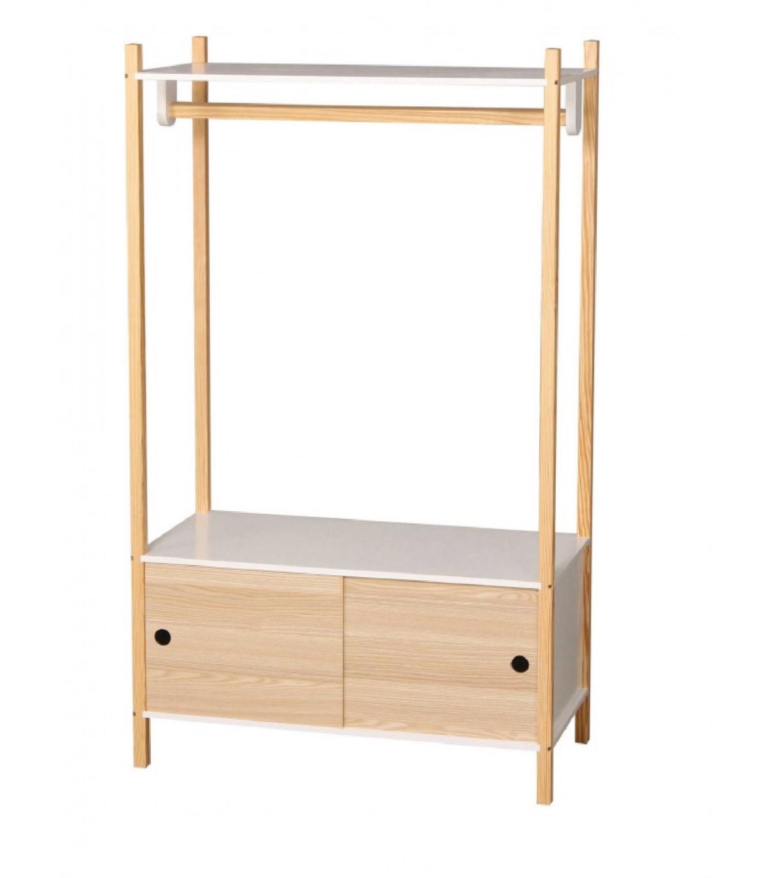 Portant vêtements en bois + placard chambre enfant