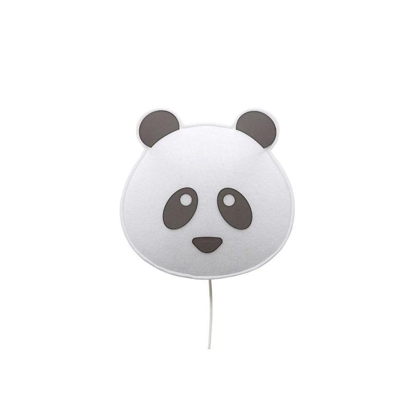 Applique veilleuse panda en pvc blanc