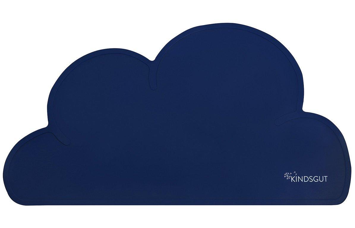 Set de table en forme de nuage en silicone bleu roi