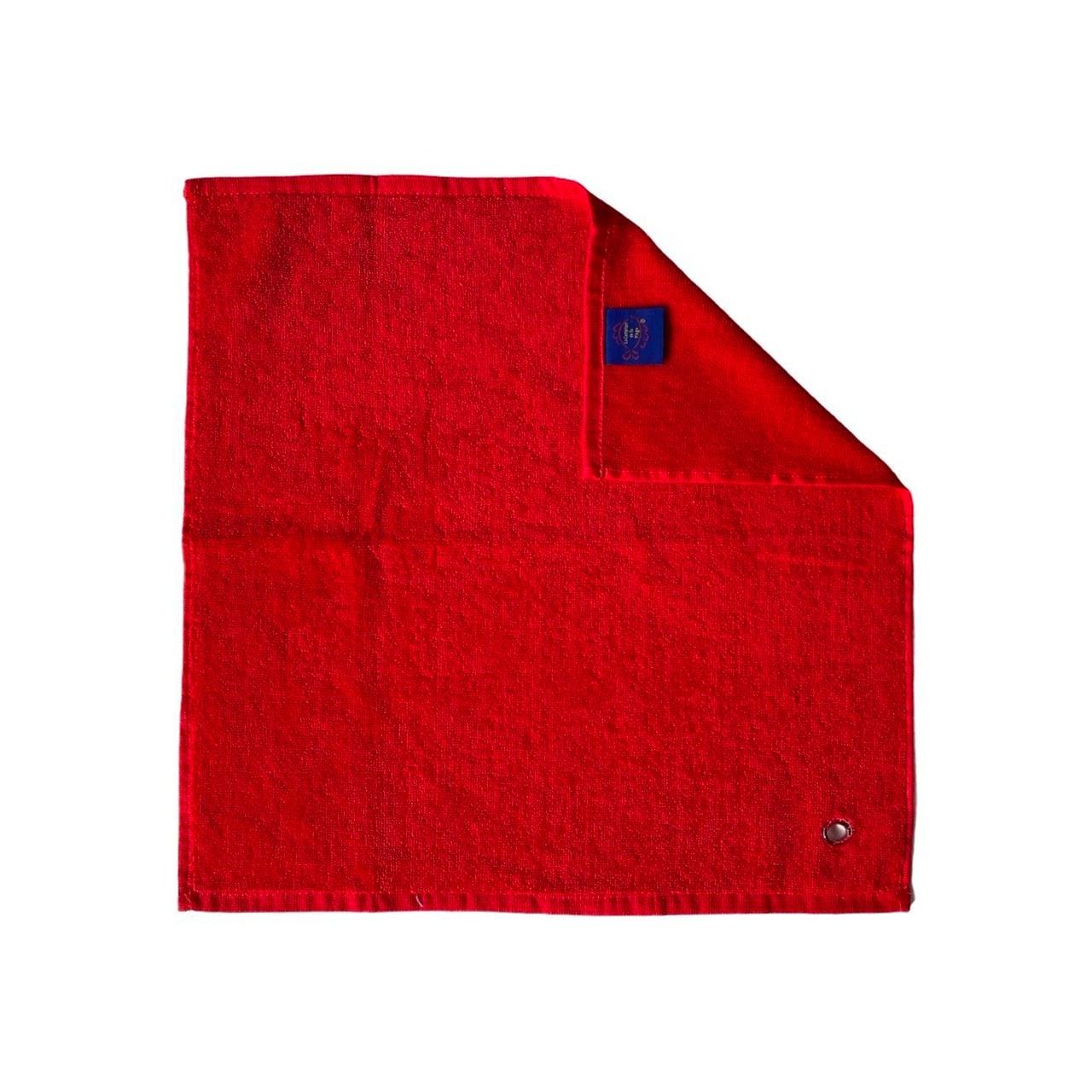 Essuie-mains cuisine uni rouge  50 x 50 set de trois pièces