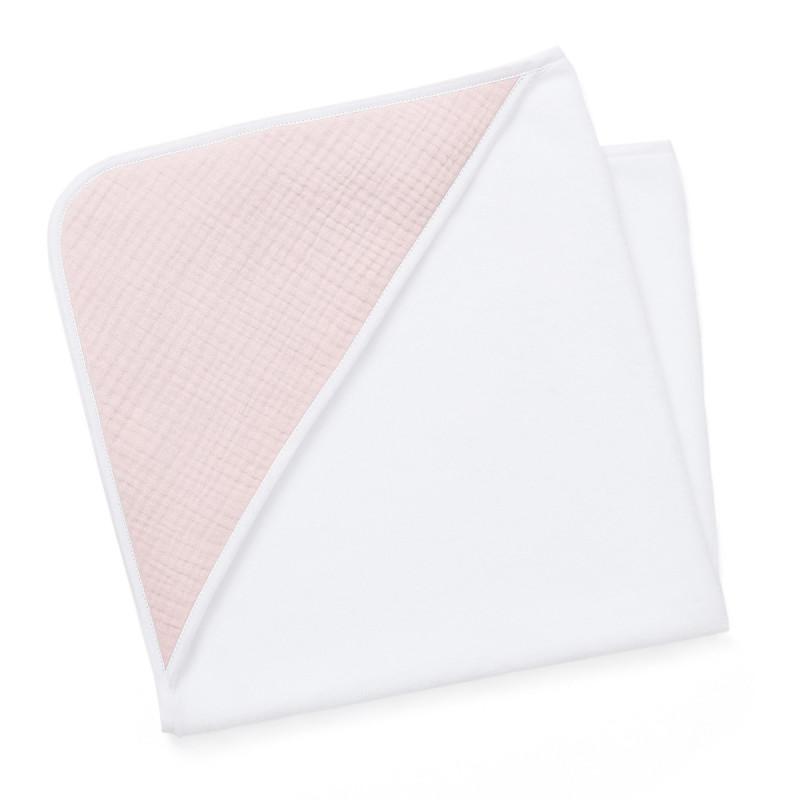 Cape de bain bébé rose pale