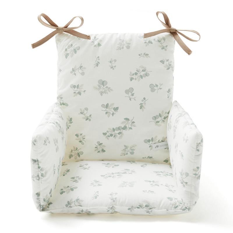 Coussin chaise haute imprimé figuier
