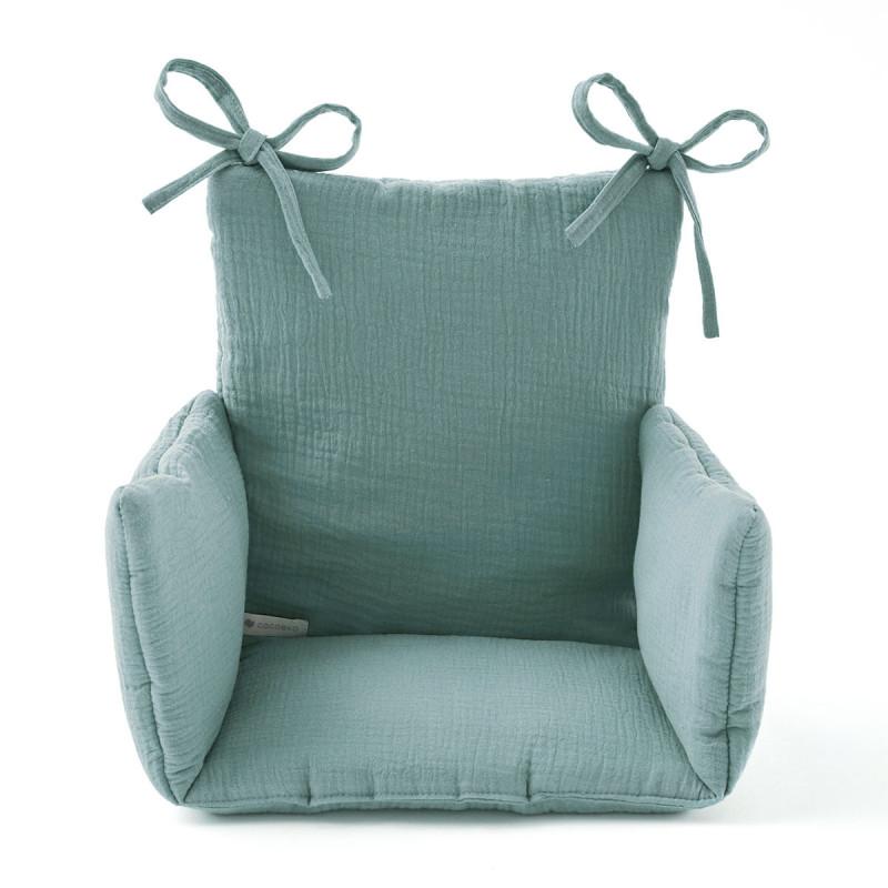 Coussin chaise haute vert eucalyptus