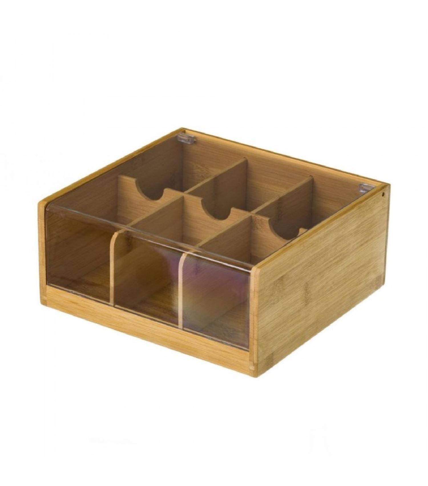 Boîte à thé en bambou 6 compartiments