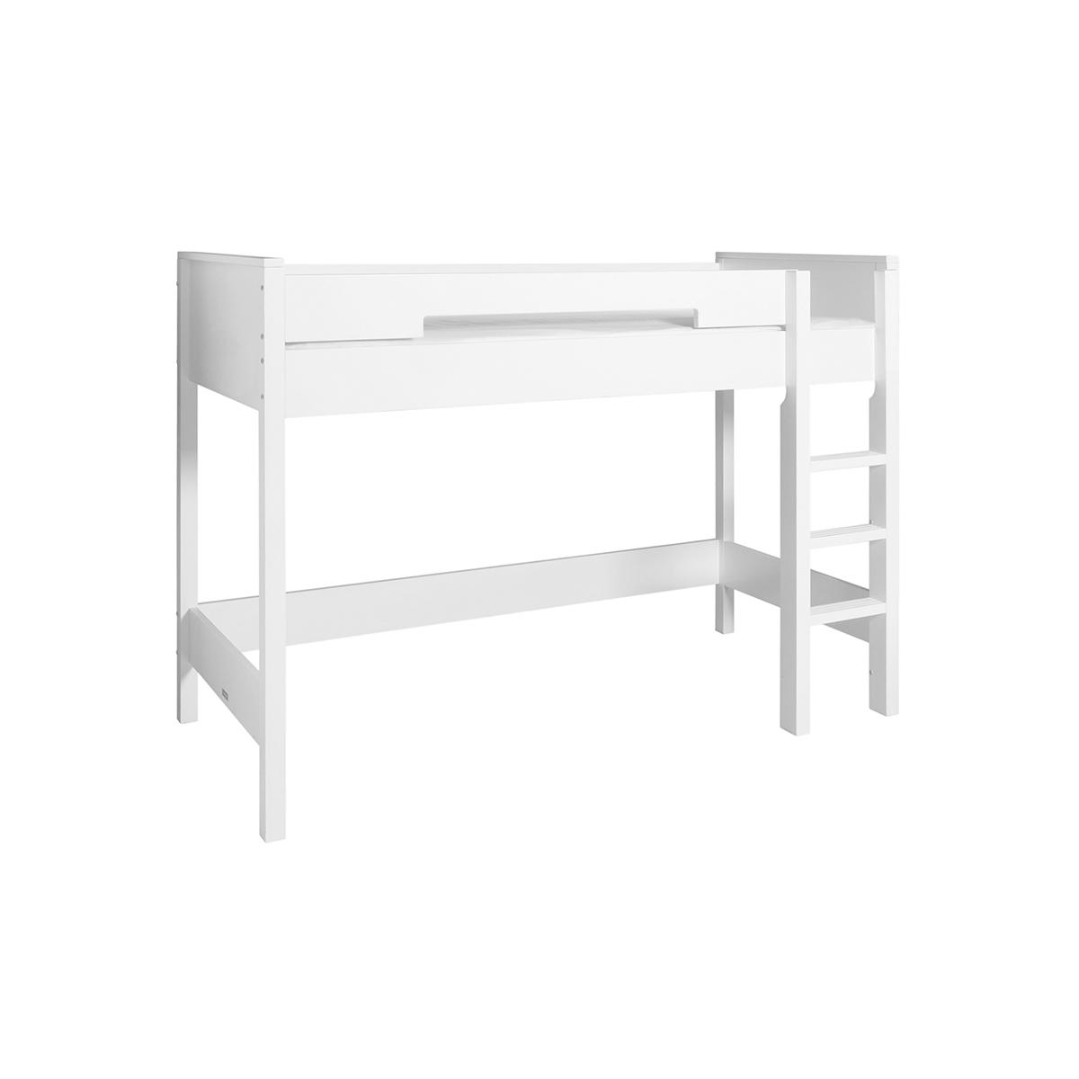 Lit mezzanine 90x200 blanc